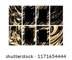 set of vector black and gold... | Shutterstock .eps vector #1171654444