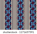seamless pattern with flowers... | Shutterstock .eps vector #1171657591