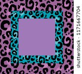 hand drawn color leopard print... | Shutterstock .eps vector #1171667704