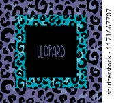 hand drawn color leopard print... | Shutterstock .eps vector #1171667707