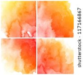 abstract colorful water color... | Shutterstock . vector #117166867