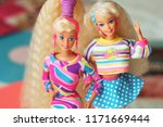 a beautiful barbie with a long... | Shutterstock . vector #1171669444
