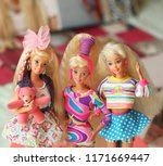 a beautiful barbie with a long... | Shutterstock . vector #1171669447