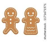 illustration of ginger cookie | Shutterstock .eps vector #1171671571