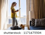 young pretty blond woman at... | Shutterstock . vector #1171675504