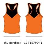 running tank tops design  ... | Shutterstock .eps vector #1171679041