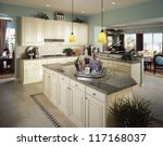 Stock photo contemporary kitchen 117168037