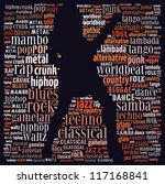 music genre in text graphics | Shutterstock . vector #117168841