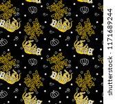 seamless halloween pattern with ... | Shutterstock .eps vector #1171689244