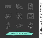 set of music icons line style... | Shutterstock .eps vector #1171690261