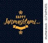 happy janmashtami. vector logo... | Shutterstock .eps vector #1171694251