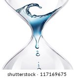 Hourglass With Dripping Water...