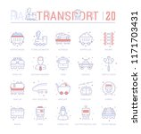 collection of vector flat icons ... | Shutterstock .eps vector #1171703431