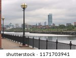 quayside landscape in salford ...   Shutterstock . vector #1171703941