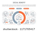 linear banner of the social... | Shutterstock .eps vector #1171705417