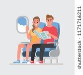 passengers on board of the... | Shutterstock .eps vector #1171716211
