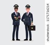 pilot  capitan .vector... | Shutterstock .eps vector #1171716214