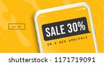 sale offer concept for mobile.... | Shutterstock .eps vector #1171719091