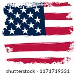 grunge usa flag.vintage flag of ... | Shutterstock .eps vector #1171719331
