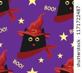halloween seamless pattern with ...   Shutterstock .eps vector #1171722487