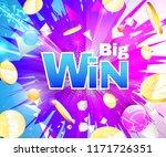 big win theme on multicolored...   Shutterstock .eps vector #1171726351