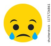 emoji sad face vector isolated... | Shutterstock .eps vector #1171726861