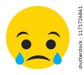 emoji sad face vector isolated... | Shutterstock .eps vector #1171726861