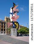 spain  barcelona  street scene... | Shutterstock . vector #1171728511
