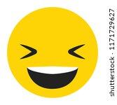 emoji laughing face vector...