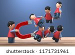 3d illustration figures lead... | Shutterstock . vector #1171731961