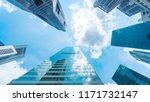sky and exterior glass wall...   Shutterstock . vector #1171732147