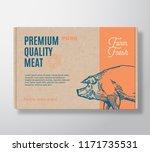 premium quality pork vector... | Shutterstock .eps vector #1171735531