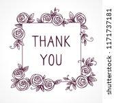 vintage cute floral frame.... | Shutterstock .eps vector #1171737181