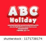 vector funny alphabet letters... | Shutterstock .eps vector #1171738174