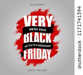 black friday sale inscription... | Shutterstock .eps vector #1171741594