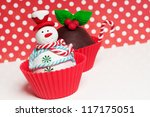 Christmas Cupcakes With Holly...