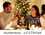 winter holidays and people... | Shutterstock . vector #1171754164