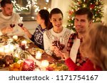 winter holidays and people... | Shutterstock . vector #1171754167