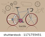 specific bicycle and spare part.... | Shutterstock .eps vector #1171755451