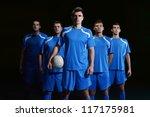 soccer players team group... | Shutterstock . vector #117175981