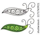 pea. vector illustration | Shutterstock .eps vector #1171765921
