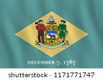 delaware us state flag with... | Shutterstock .eps vector #1171771747