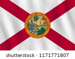 florida us state flag with... | Shutterstock .eps vector #1171771807