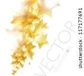 Shiny Golden Stars Background...