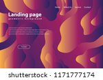 landing page with trendy... | Shutterstock .eps vector #1171777174