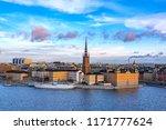 panorama of gamla stan  old...   Shutterstock . vector #1171777624