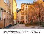 street of the old town  gamla...   Shutterstock . vector #1171777627