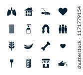 care icon. collection of 16... | Shutterstock .eps vector #1171779154