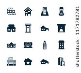 residential icon. collection of ... | Shutterstock .eps vector #1171782781