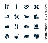 meal icon. collection of 16... | Shutterstock .eps vector #1171782991